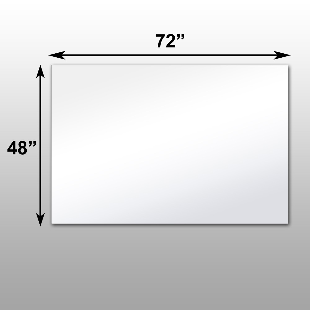 mirror 36 x 72. mirrorlite® pfs optical grade glassless mirror 48\ 36 x 72 l