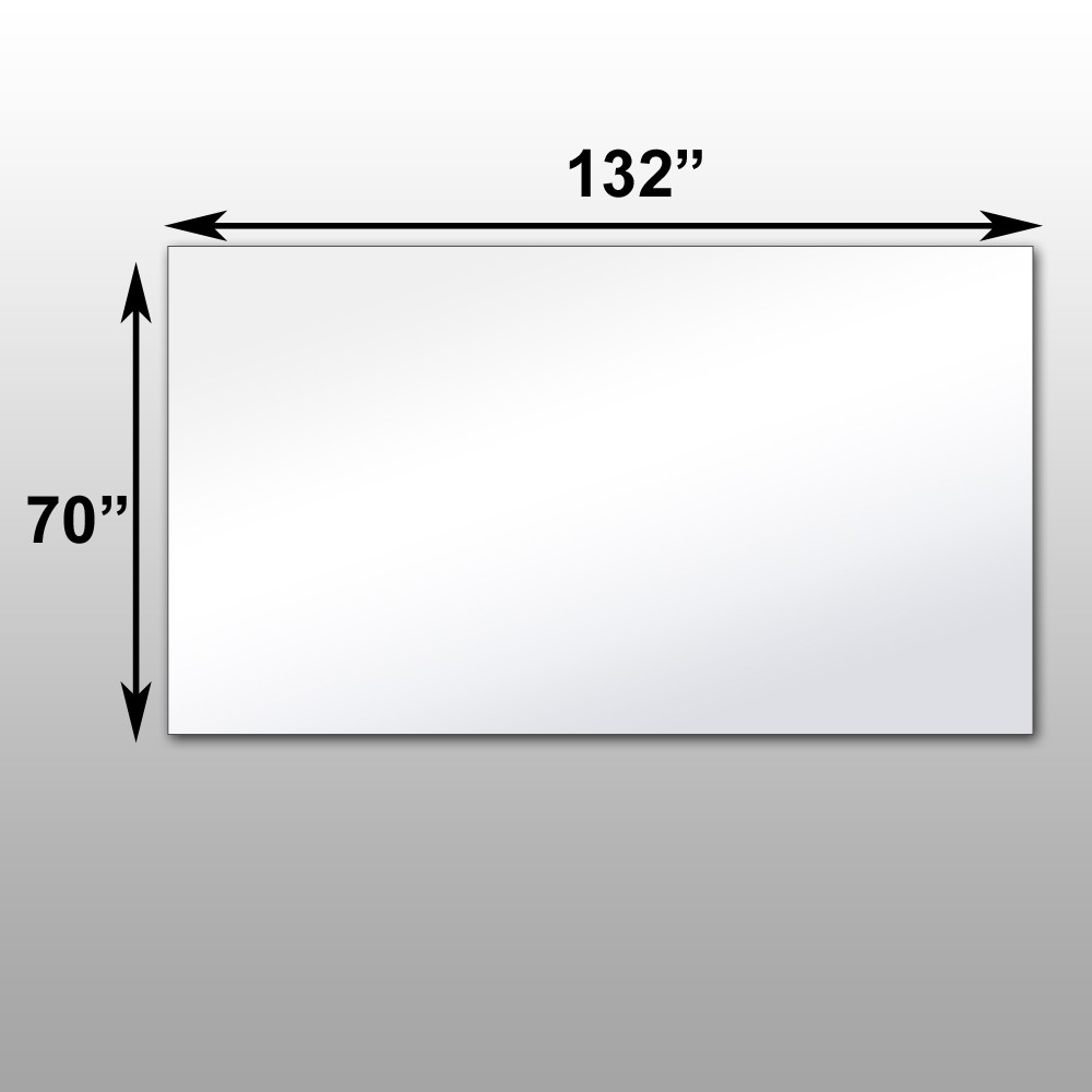 "Mirrorlite® PFS Optical Grade Glassless Mirror 70"" x 132"" x 2.5"""