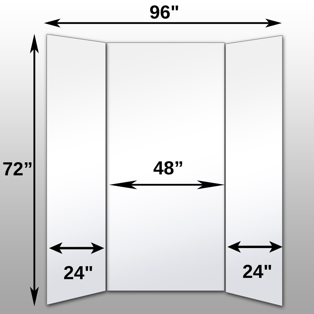 "Mirrorlite® Folding Wordrobe Glassless Mirror(3 Panels) 72"" x 96"" x 1""(Opened) 48"" x 72"" x 1""(Folded)"