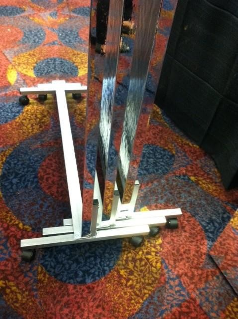 Stackable Rolling Vertical Wheel Stand