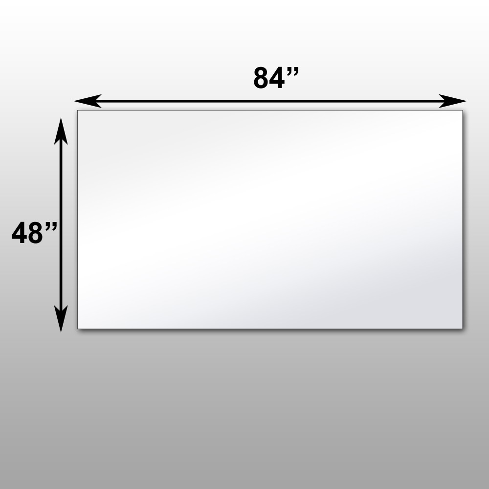 "Mirrorlite® PFS Optical Grade Glassless Mirror 48"" x 84"" x 1 7/16"""