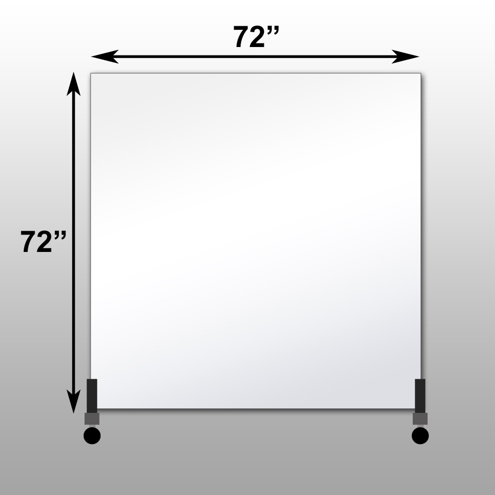 "Mirrorlite® Horizontal Free Standing Glassless Mirror 72"" x 72"" x 1.25"""