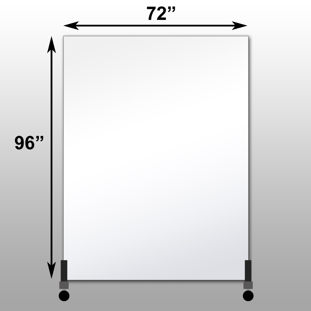 "Mirrorlite® Vertical Free Standing Glassless Mirror 72"" x 96"" x 1.25"""