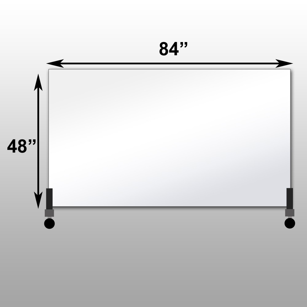 "Mirrorlite® Horizontal Free Standing Glassless Mirror 48"" x 84"" x 1.25"""