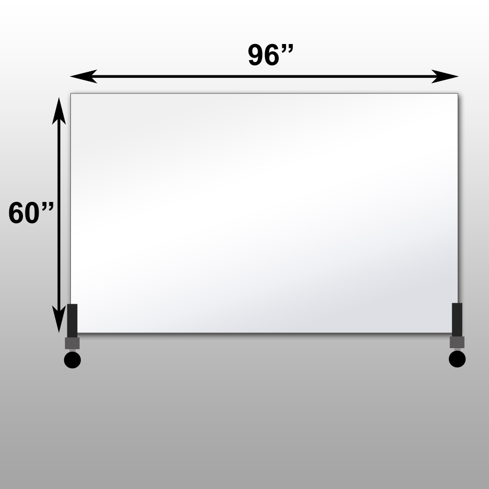 "Mirrorlite® Horizontal Free Standing Glassless Mirror 60"" x 96"" x 1.25"""