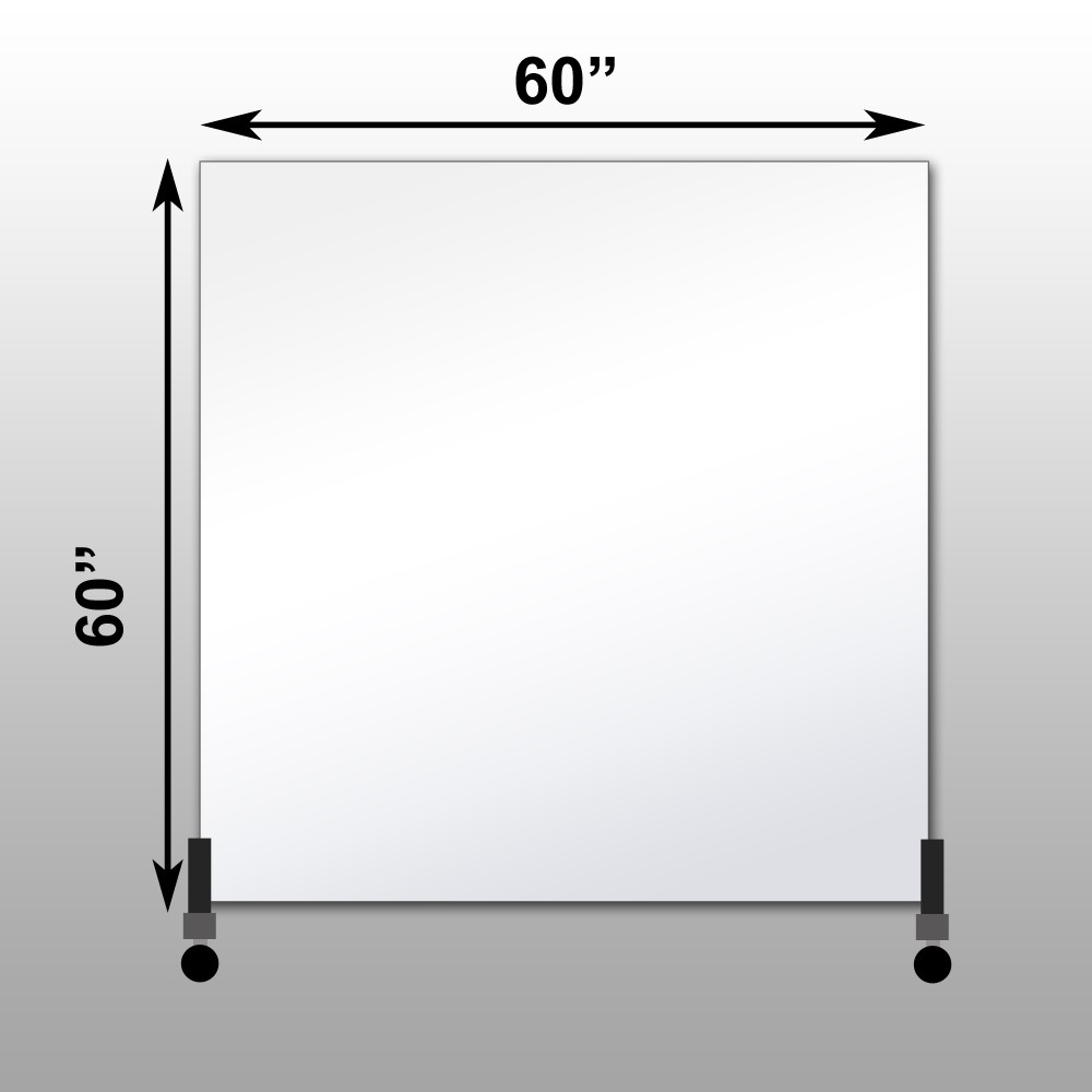 "Mirrorlite® Vertical Free Standing Glassless Mirror 60"" x 60"" x 1.25"""