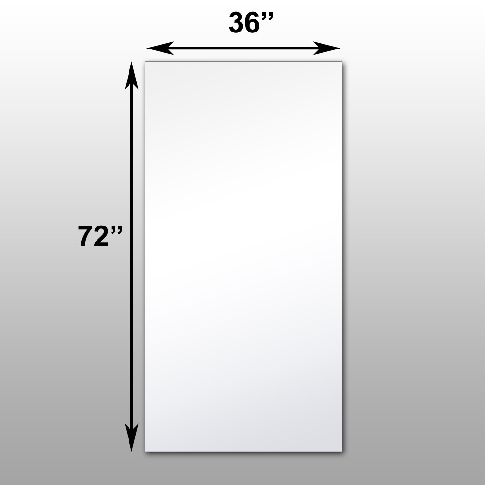mirrorlite surface mounted glassless mirror 36 x 72 x 1