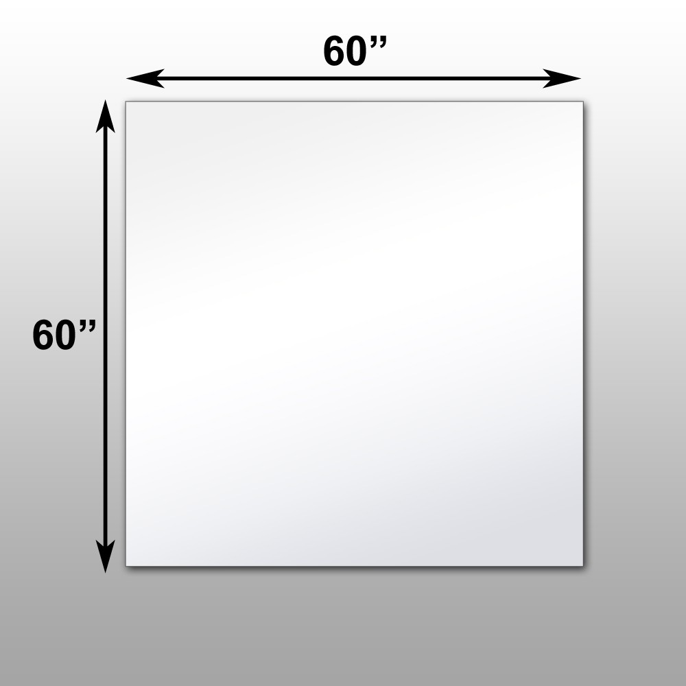 mirrorlite surface mounted glassless mirror 60 x 60 x