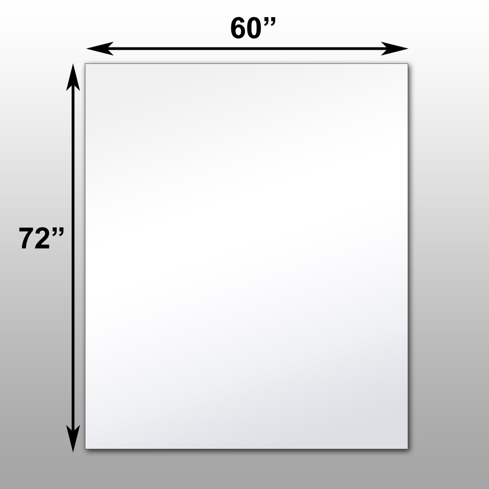 "Mirrorlite® Surface Mounted Glassless Mirror 60"" x 72"" x 1.25"""