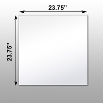 "Mirrorlite® Ceiling Glassless Mirror Panels 23.75"" x 23.75"" x .75"" - 10 Pack"