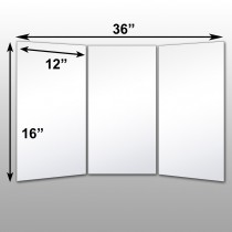 "Mirrorlite® Folding Glassless Mirror(3 Panels) 36"" x 16"" x .75""(Opened) 12"" x 16"" x .75""(Folded)"