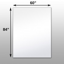"Mirrorlite® Surface Mounted Glassless Mirror 60"" x 84"" x 1.25"""