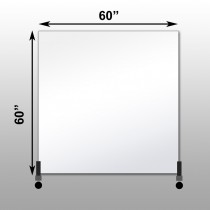 "Mirrorlite® Horizontal Free Standing Glassless Mirror 60"" x 60"" x 1.25"""