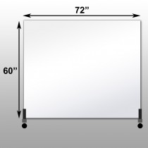 "Mirrorlite® Horizontal Free Standing Glassless Mirror 60"" x 72"" x 1.25"""