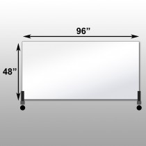 "Mirrorlite® Horizontal Free Standing Glassless Mirror 48"" x 96"" x 1.25"""