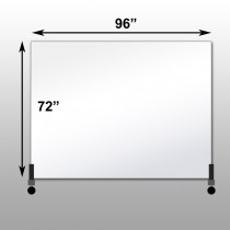 "Mirrorlite® Horizontal Free Standing Glassless Mirror 72"" x 96"" x 1.25"""