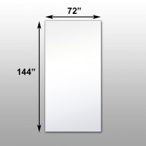 "Mirrorlite® Surface Mounted Glassless Mirror 72"" x 144"" x 1.25"""