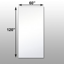 "Mirrorlite® Surface Mounted Glassless Mirror 60"" x 120"" x 1.25"""