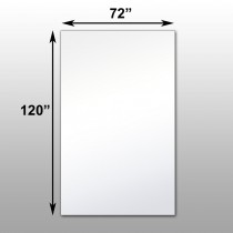"Mirrorlite® Surface Mounted Glassless Mirror 72"" x 120"" x 1.25"""