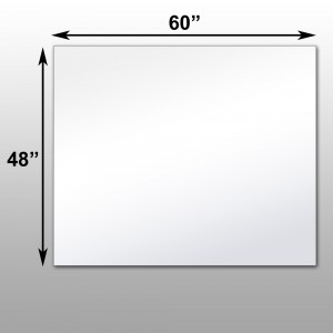 Optical glassless mirrors projection for Mirror 48 x 60