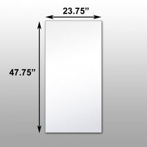"Mirrorlite® Ceiling Glassless Mirror Panels 23.75"" x 47.75"" x .75"" - 10 Pack"