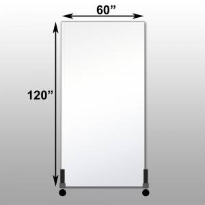 Stand with long side of mirror mounted vertically free for Mirror 120 x 60