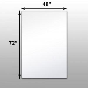 Surface mounted glassless mirrors wall or ceiling for Mirror 48 x 60