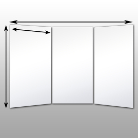 Free Standing Glassless Mirrors
