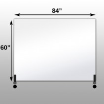 "Mirrorlite® Horizontal Free Standing Glassless Mirror 60"" x 84"" x 1.25"""