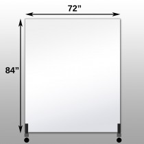 "Mirrorlite® Vertical Free Standing Glassless Mirror 72"" x 84"" x 1.25"""