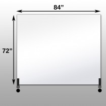 "Mirrorlite® Horizontal Free Standing Glassless Mirror 72"" x 84"" x 1.25"""