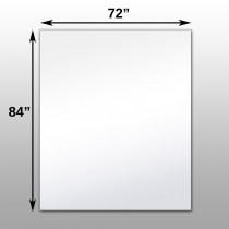"Mirrorlite® Surface Mounted Glassless Mirror 72"" x 84"" x 1.25"""