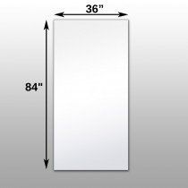 "Mirrorlite® Surface Mounted Glassless Mirror 36"" x 84"" x 1.25"""