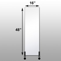 "Mirrorlite® Vertical Free Standing Physical Activity Glassless Mirror 16"" x 48"" x 3/4"""