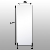 "Mirrorlite® Vertical Free Standing Glassless Mirror 36"" x 96"" x 1.25"""