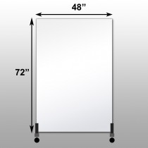 "Mirrorlite® Vertical Free Standing Glassless Mirror 48"" x 72"" x 1.25"""