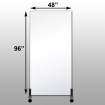 "Mirrorlite® Vertical Free Standing Glassless Mirror 48"" x 96"" x 1.25"""