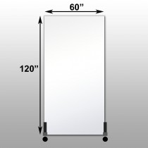 "Mirrorlite® Vertical Free Standing Glassless Mirror 60"" x 120"" x 1.25"""