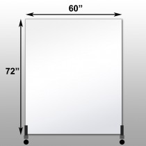 "Mirrorlite® Vertical Free Standing Glassless Mirror 60"" x 72"" x 1.25"""