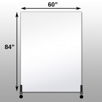 "Mirrorlite® Vertical Free Standing Glassless Mirror 60"" x 84"" x 1.25"""