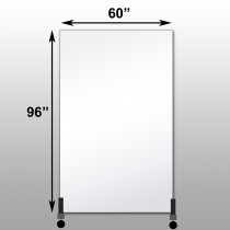 "Mirrorlite® Vertical Free Standing Glassless Mirror 60"" x 96"" x 1.25"""