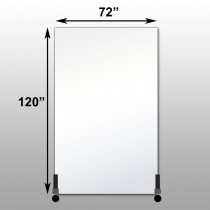 "Mirrorlite® Vertical Free Standing Glassless Mirror 72"" x 120"" x 1.25"""