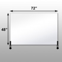 "Mirrorlite® Horizontal Free Standing Glassless Mirror 48"" x 72"" x 1.25"""