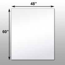 "Mirrorlite® Surface Mounted Glassless Mirror 48"" x 60"" x 1.25"""