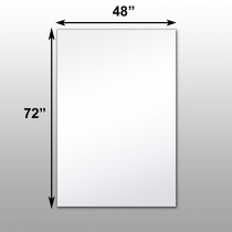 "Mirrorlite® Scrim Glassless Mirror 48""x72""x1"""