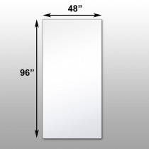 "Mirrorlite® Scrim Glassless Mirror 48""x96""x1"""