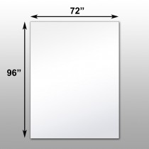 "Mirrorlite® Surface Mounted Glassless Mirror 72"" x 96"" x 1.25"""