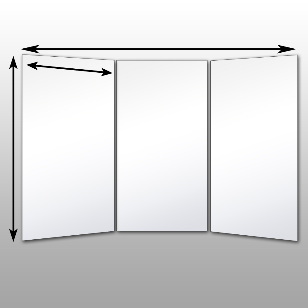 Folding Glassless Mirrors Free Standing Glassless Mirrors