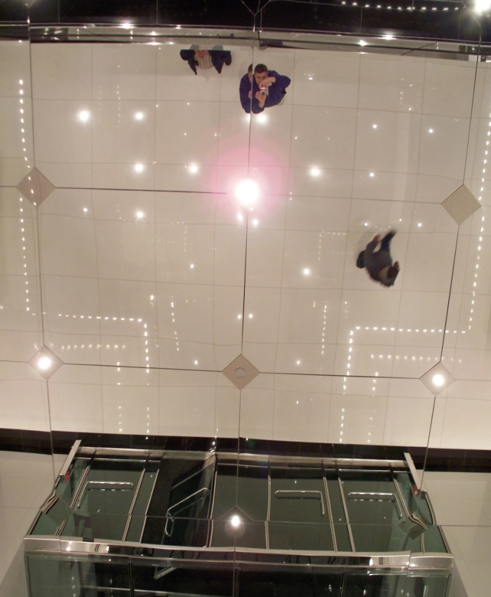 Mirrorlite Glassless Mirrors Elevator Lobby