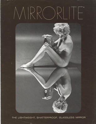 Mirrorlite glassless mirror advertisement